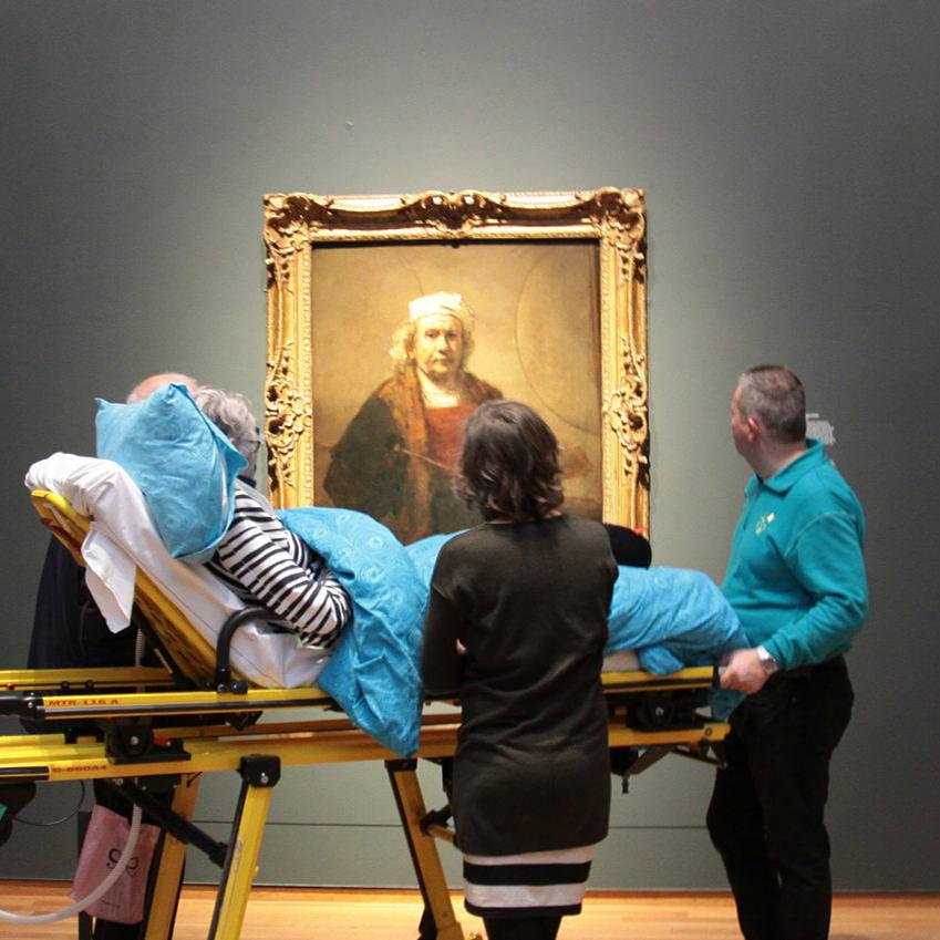 Halálos betegek utolsó kívánságát teljesíti egy alapítvány a Rembrandt-kiállításon